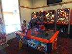 Amusements in reception building
