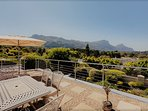 Top Sundowner Patio with Reliners 6 seater Table Chairs 360 view Constantia Valley backdrop TableMtn