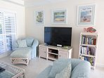 55' Smart tv, games, local reference books, cookbooks,fiction, kids' books