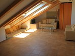Living room on the upper level