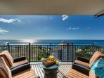 Direct ocean views from this lanai