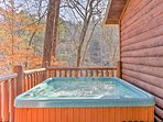 Soak your cares away while marveling at the beautiful wooded surroundings.