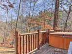 You'll love spending time on the private deck.