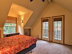 Head through the French doors in the master to access the private balcony.