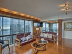 Look out to sweeping island views as you lounge in the living area.