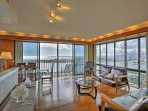 Situated on the 26th floor, this 2-bedroom, 2-bathroom condo boasts breathtaking ocean views.