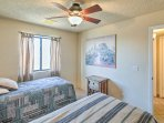 Located just steps from the main living area, this room is close to all the action.
