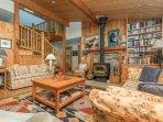 cozy woodstove main cottage