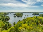 lake rosseau from the sky!