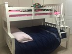Bunk bed in basement - single/double