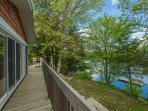 upper level cottage deck off livingroom