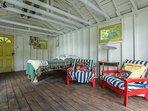 boathouse sitting area