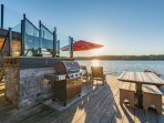 Boathouse BBQ and seating