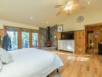master bedroom with views to lake