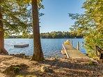 canoe  and sun dock plus a flaoting swim dock