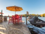 jet ski lifts and boathouse dock seating