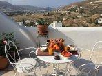 Petits-déjeuners sur votre terrasse