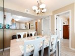 Dining area conveniently located close to the kitchen