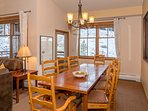 Host your family and friends at your dining table that seats eight