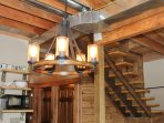 Rustic in design, with a combination of repurposed and modern materials