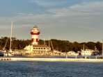 Harbour Town lighthouse and shopping 5 mins away