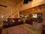 Find your special place to relax and unwind at Pine Cone Lodge in the living room, back balcony or cozy sitting area in...