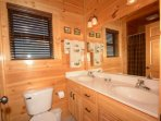 Master Private Bathroom with double vanity and walk-in shower