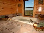 Enjoy the in-room Jacuzzi tub in the Master Bedroom upstairs.