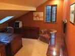1st floor Office with WiFi, high speed fibre wired LAN and 32-inch TV with Sky