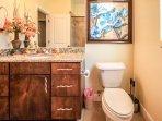 shared bathroom tub/shower combinaton