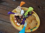 Example of Cheese platter available on request for additional cost.