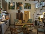 Beautiful open common area with kitchen and loft