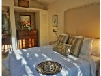 Queen bedroom with air-conditioning