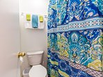 Separate shower area makes it easier for people to be ready to go out and have fun!