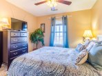Queen Bedroom with flat screen TV - has new flooring as shown in a separate pic