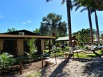 Palma Real cottage, overview. Also it's surrounded by palm trees, native trees and tropical plants