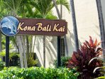Kona Bali Kai resort entrance sign.