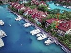 Location of our 'Eden Island Marina Apartment'