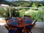 west facing terrace overlooking the Esterel  hills.Watch the sunset with a glass of wine.