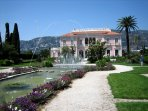 The famous Villa Ephrusi with superb gardens and fountains with music. Lovely lunch here!