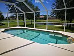 Our Glorious Gulf Villa with private heated pool overlooking waterway and fishing dock