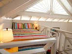 Upstairs sleeping loft with doublebed, nice and cozy