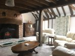 Wonderful original barn features in the lounge