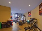 Guests enjoy access to the on-site fitness facility