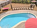 Large 28x15 Private Salt Water Pool! Large pool & Pool area to hold the whole family!