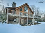 Escape to the charming town of Bethel at this vacation rental cabin.