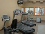 Excellent resort amenities include an on-site fitness centre