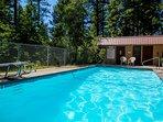Outdoor pool facility in Ptarmigan Village.