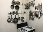 Kitchen and available cookware