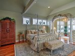 Rest like royalty in this master suite.